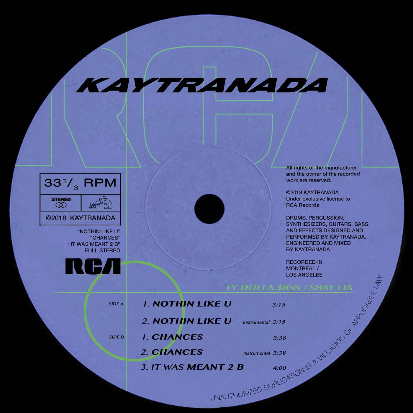 NOTHIN LIKE U / CHANCES - KAYTRANADA