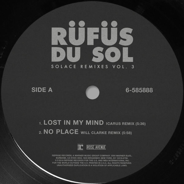 Solace (Remixes) (Vol. 3) - RÜFÜS DU SOL