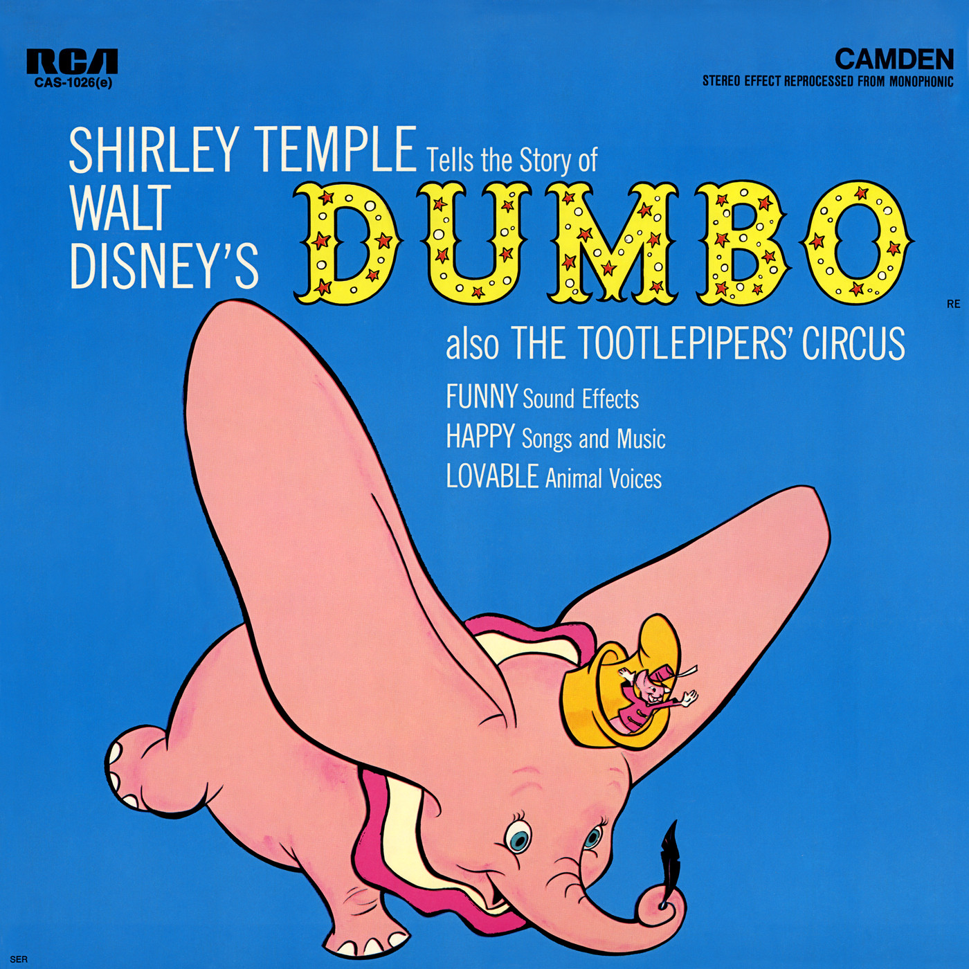 Walt Disney's Dumbo Also The Tootlepipers' Circus - Shirley Temple
