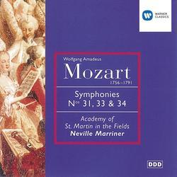 Mozart: Symphonies Nos. 31, 33 & 34 - Sir Neville Marriner