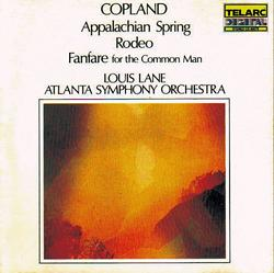 Aaron Copland - Appalachian Spring, Rodeo, Fanfare For The Common Man - Louis Lane - Atlanta Symphony Orchestra