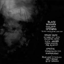 Black Wooden Ceiling Opening - Mount Eerie