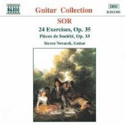 Sor - 24 Exercises, Op. 35; Pièces De Société, Op. 33 (No. 1) - Steven Novacek