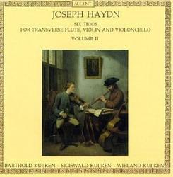 Haydn - Six Trios For Transverse Flute, Violin & Cello, Vol. 2 (No. 1) - Sigiswald Kuijken - Wieland Kuijken - Barthold Kuijken