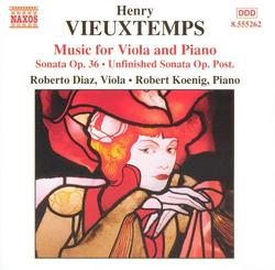 Henry Vieuxtemps - Music For Viola And Piano - Robert Koenig -  Roberto Díaz